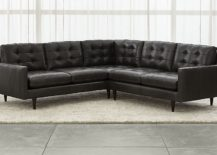 Leather sectional sofa from Crate & Barrel