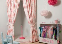Let your little darling hone here stage skills with a small corner theater!