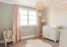 Light pink is the perfect color for shabby chic style nursery