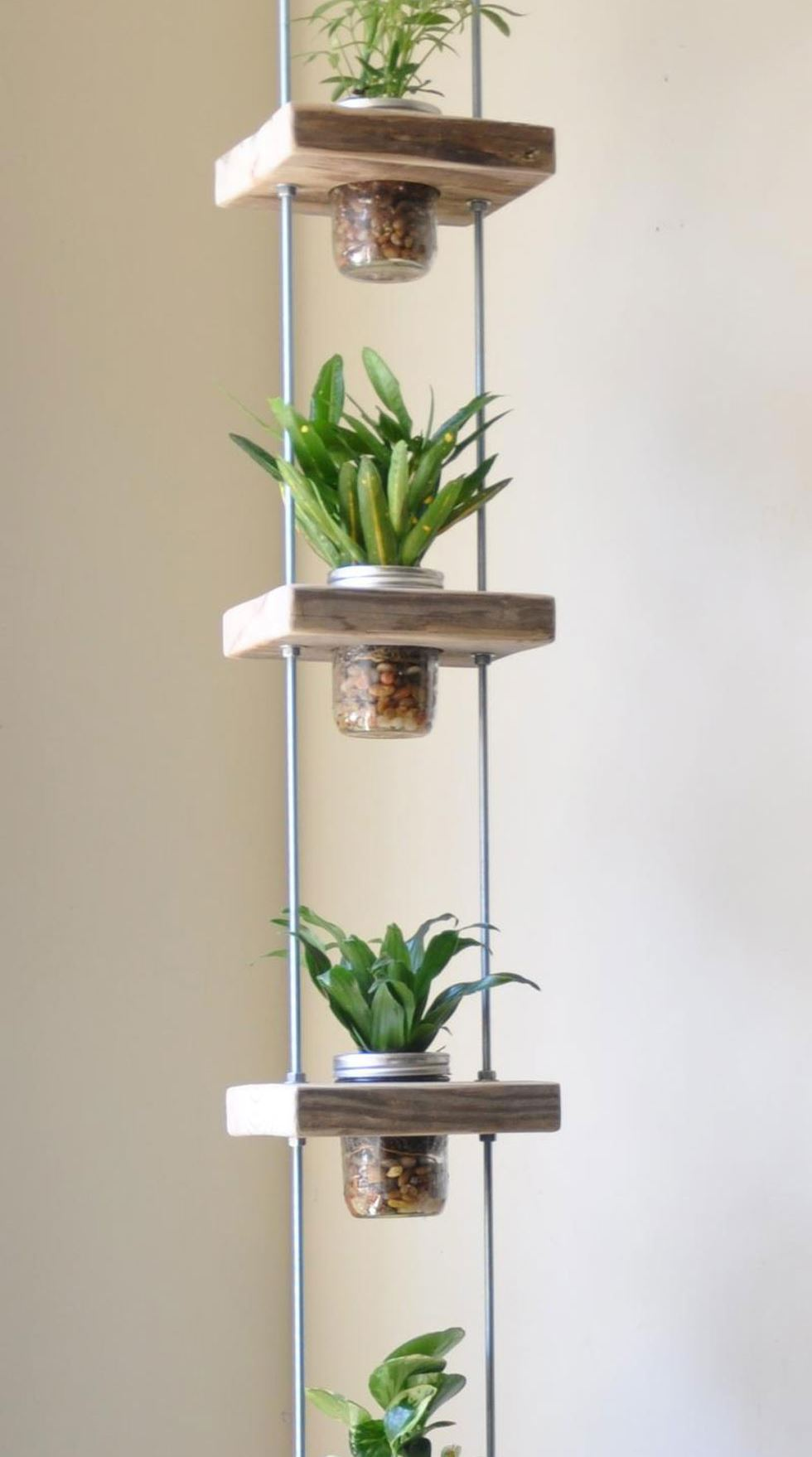 Long DIY vertical garden