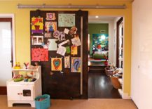 Magnetic sliding door serves more uses than one in the kids' room!