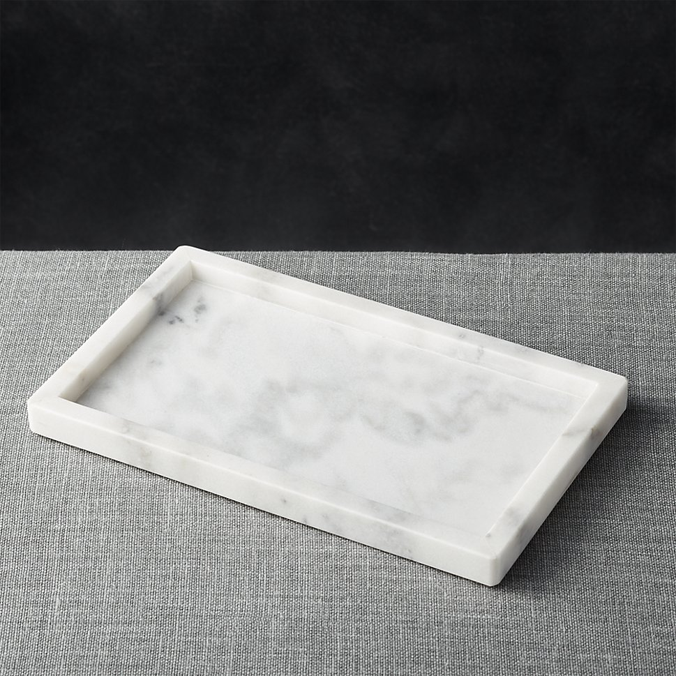 Marble tray from Crate & Barrel