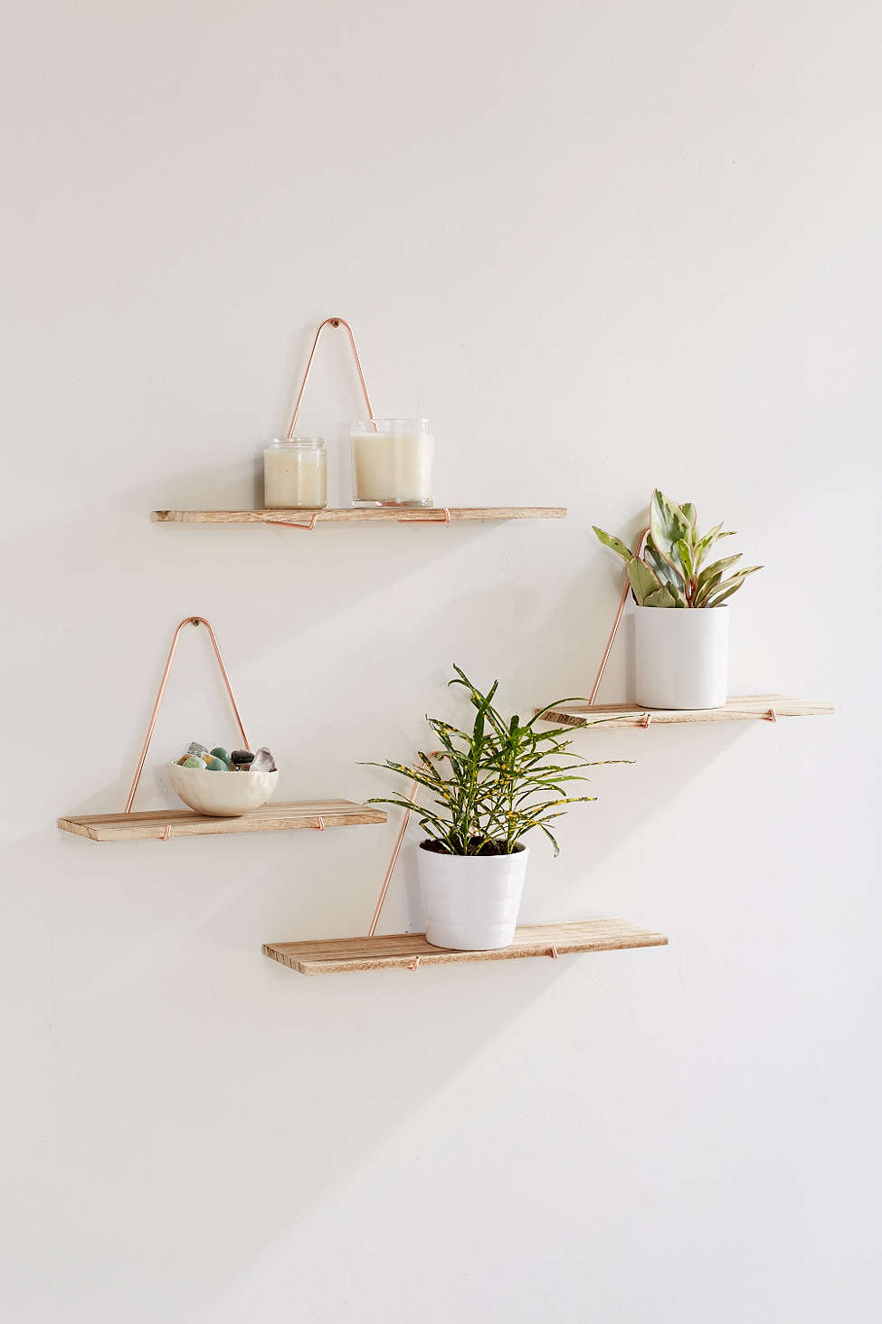 Metal and wood wall shelves from Urban Outfitters