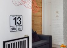 Metallic wire sculpture adds a quirky twist to the living space