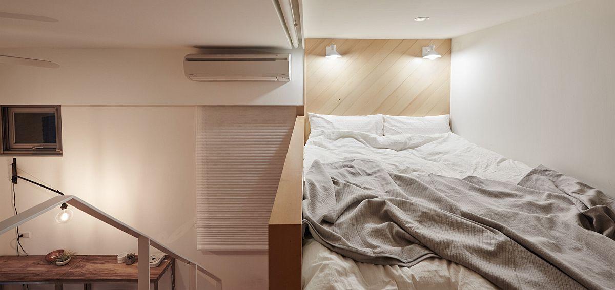 Mezzanine level loft bedroom for the tiny apartment