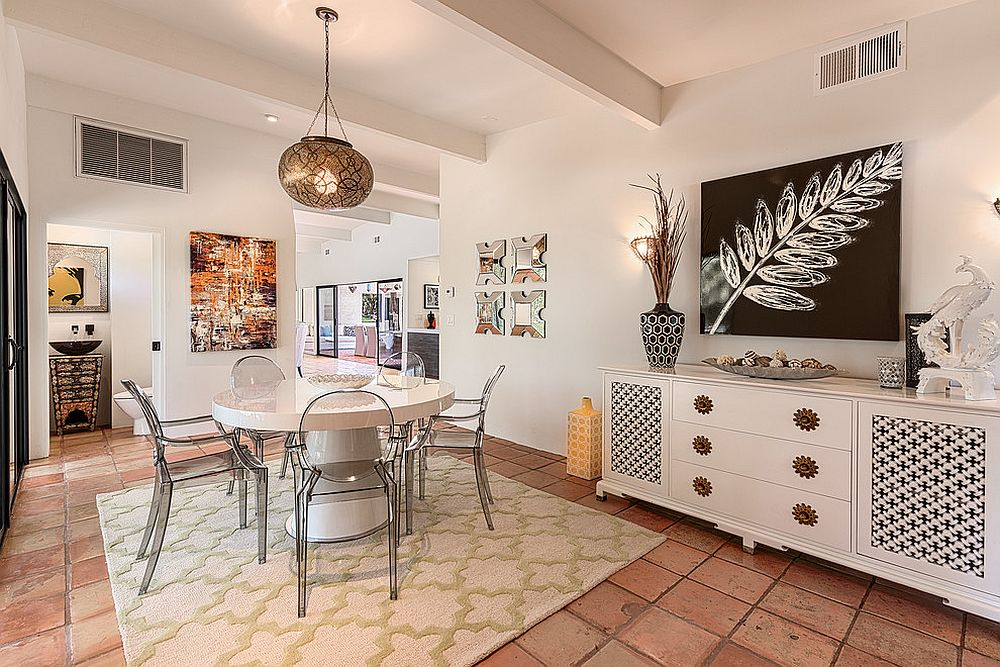 Beautiful View In Gallery Midcentury Modern And Moroccan Styles Combined In The  Cheerful Dining Room [From: NDC Homes