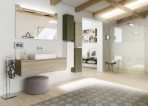 Minimal modular bathroom composition from Inda