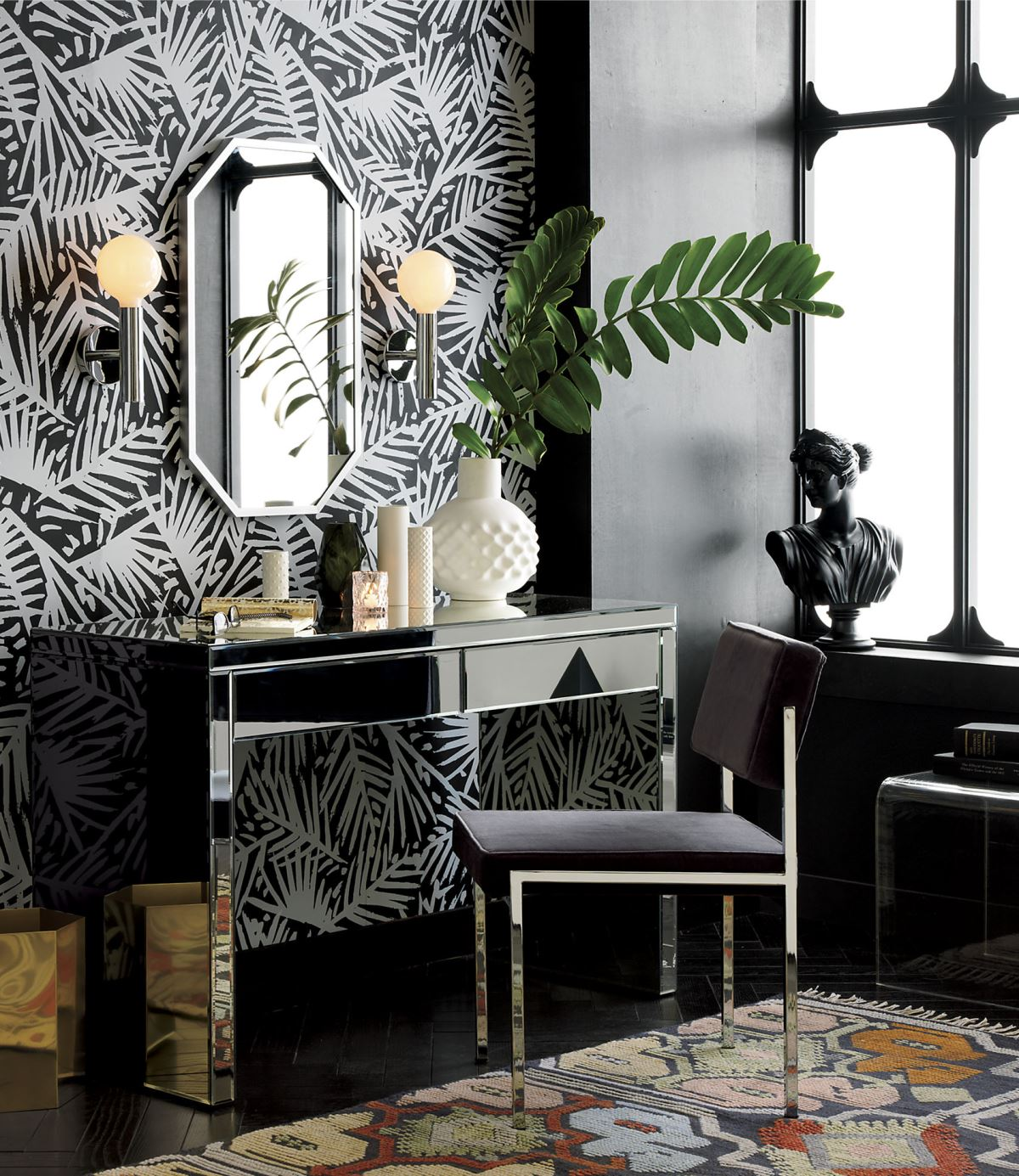 Mirrored desk from CB2