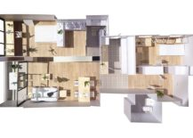 Model of the renovated apartment in Les Corts