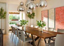 Modern-Mediterranean-dining-room-with-globe-metallic-pendants-217x155