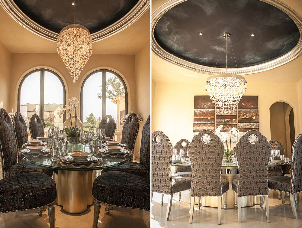 Modern Moroccan dining room with a hint of glam [From: Embellish Interiors]