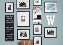 Modern-art-work-coupled-with-family-photographs-to-create-a-stylish-gallery-wall-217x155