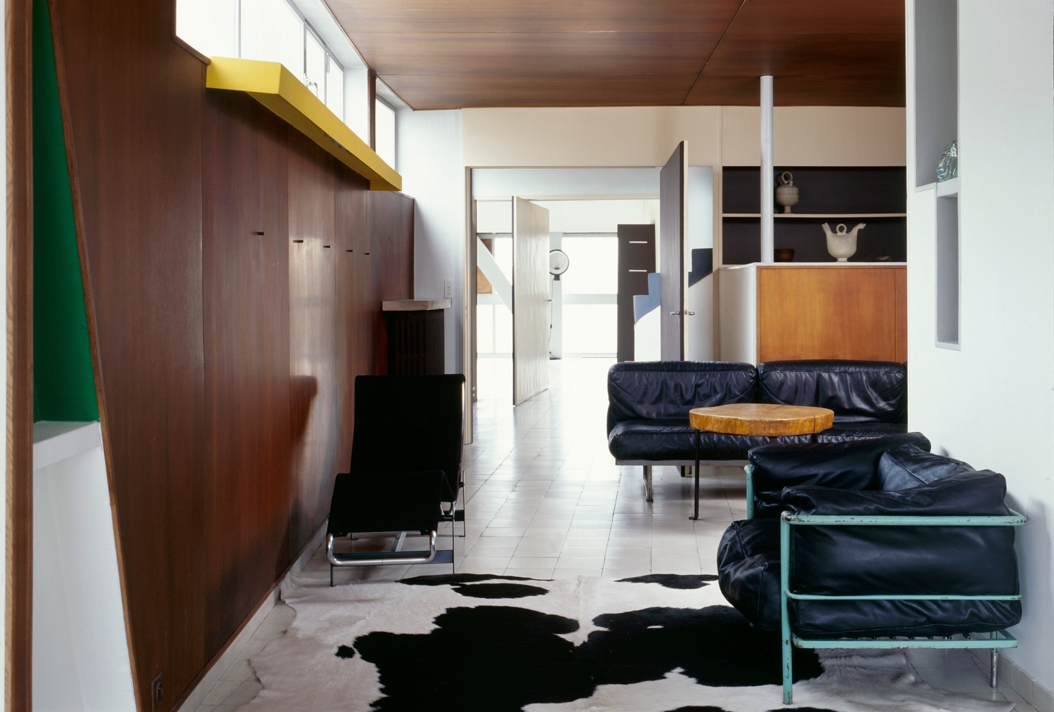 Le Corbusier's living room in his Molitor apartment. Photo by Oliver Martin-Gambier © FLC/ADAGP.
