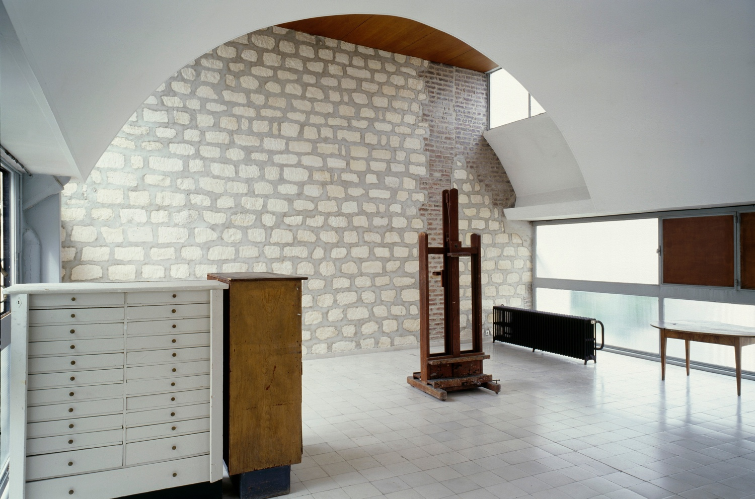 Le Corbusier's painting studio at Molitor. Photo by Oliver Martin-Gambier © FLC/ADAGP.
