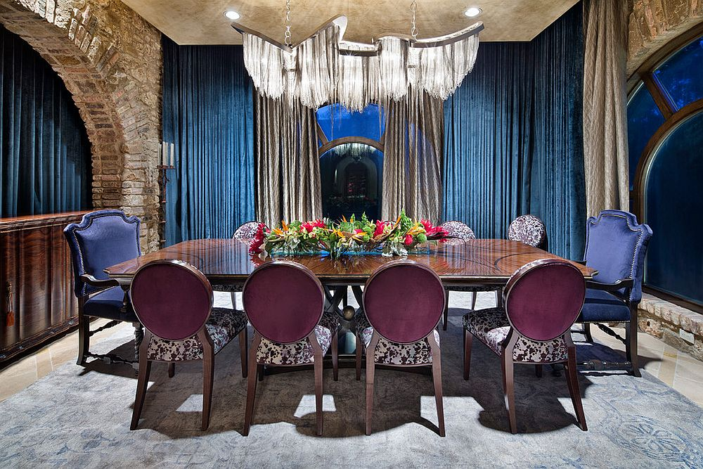 ... More Restrained Touches Of Moroccan Design Give The Dining Space A  Stylish Mediterranean Vibe [Design