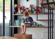 Multi-purpose, custom kids' room storage and display space