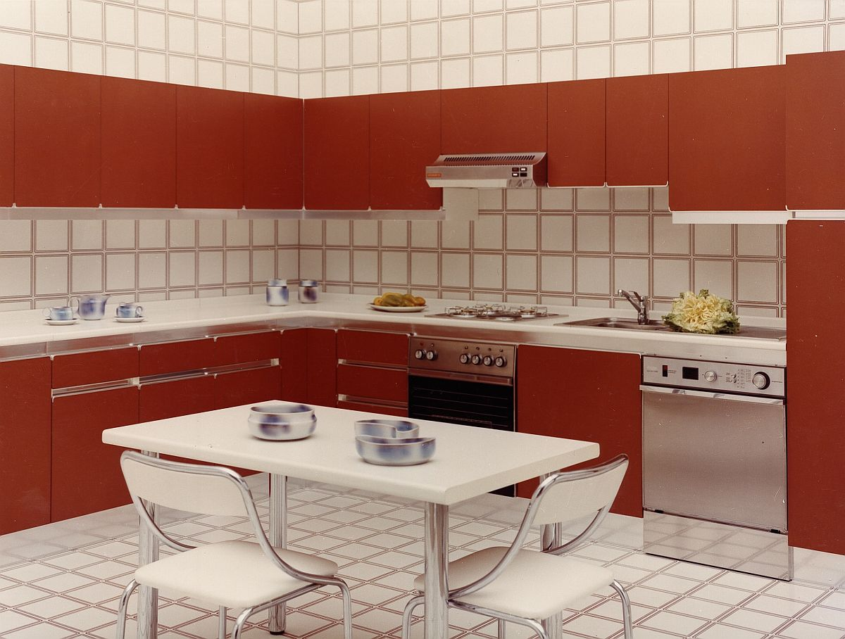 Nadia with laminated cabinets in bright colors - 1975