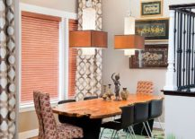 Nifty dining space makes most of the vertical space available [From: Haven / Tres Photography]