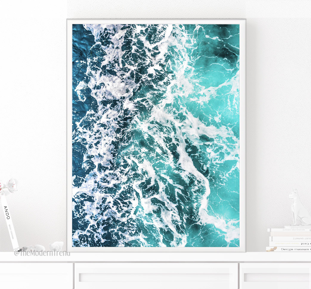 Ocean print from The Modern Trend