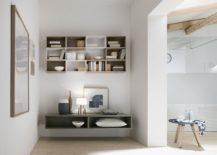 Open modular shelves give you an ability to custom deisgn your dream bathroom