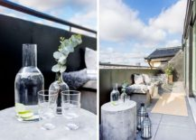 Outdoor decor for balcony with Scandinavian style