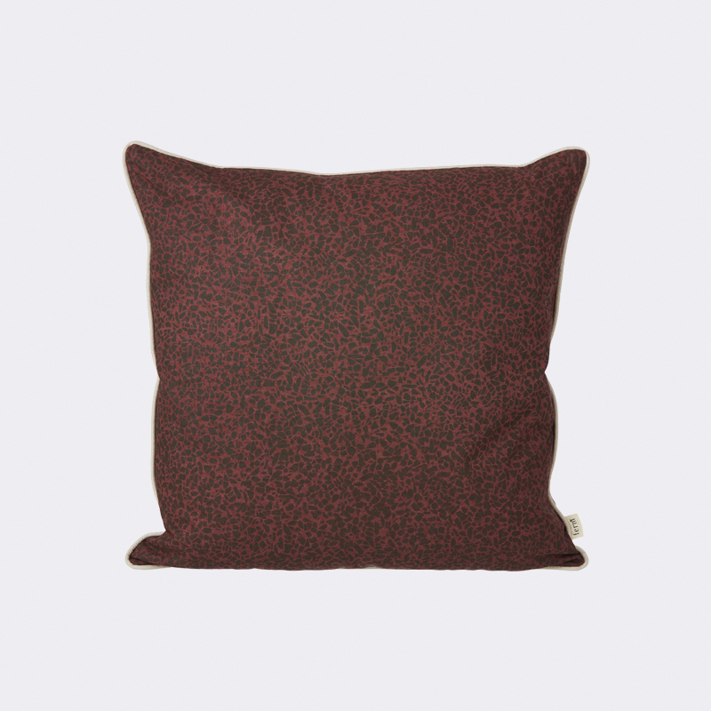 Patterned terrazzo pillow from ferm LIVING