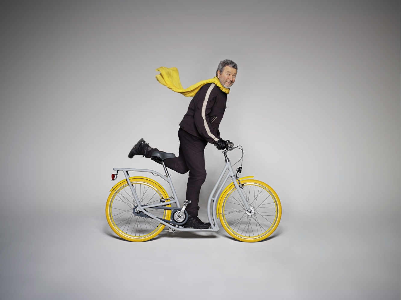 Pibal bicycle with Philippe Starck. Image courtesy of Starck.