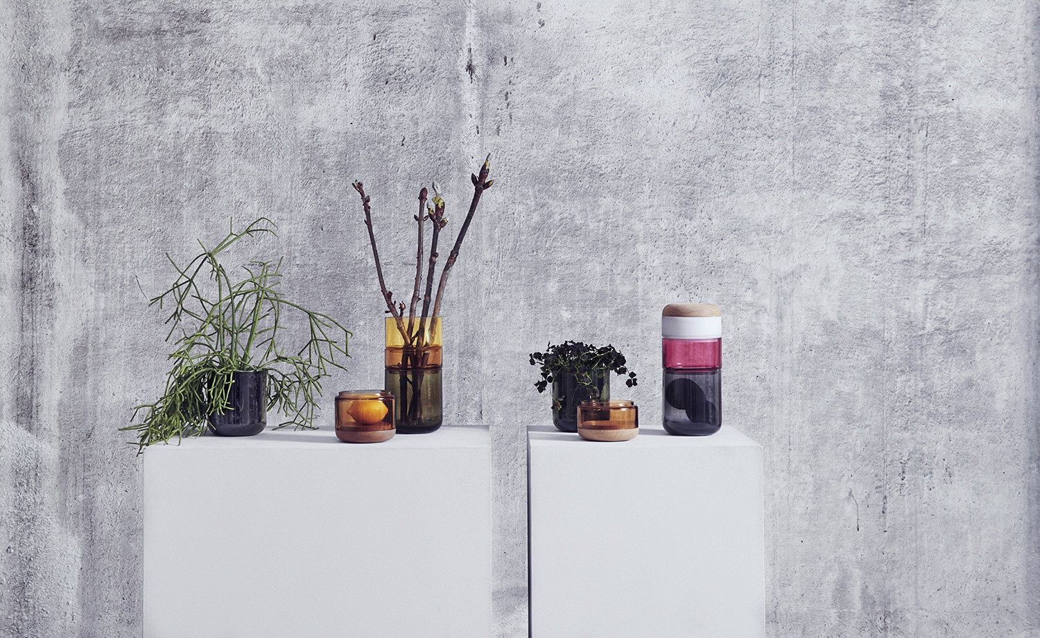 Pi-No-Pi-No Vase designed by Maija Puoskari & Tuukka Tujula. Take it apart or stack it together: the Pi-No-Pi-N vase is flexible and versatile.