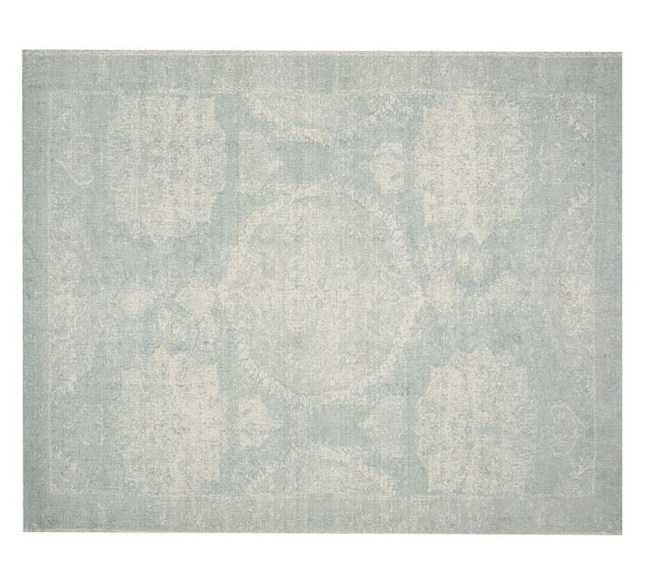 Porcelain blue rug from Pottery Barn