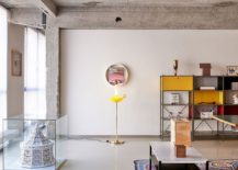 Quirky decor additions give the home office a fun vibe