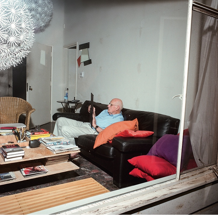 Richard Sapper at home. Ramak Fazel: Domestic Contours. Image via It's Nice That.