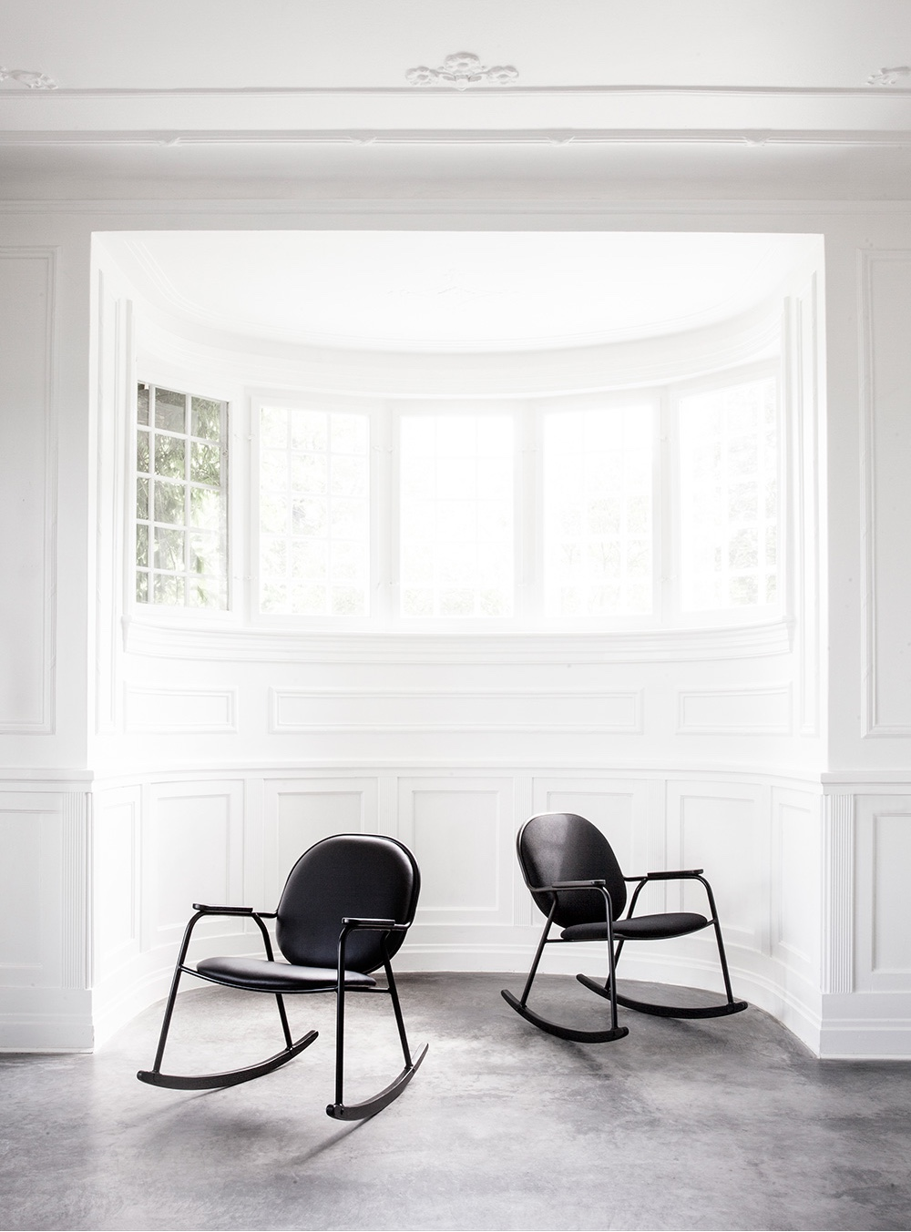 A collaboration between Frederik Alexander Werner and Sørensen Leather led to the launch of Werner's Rocking Chair for Danish brand Menu.
