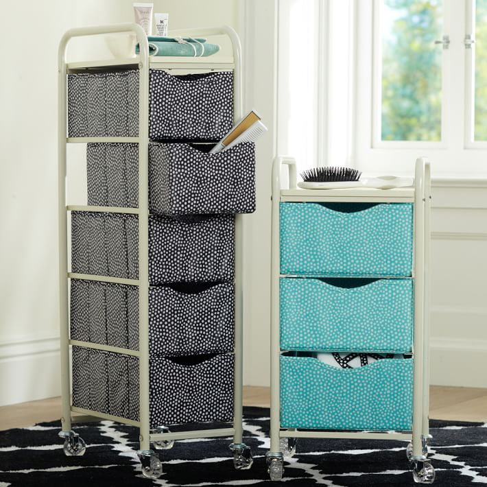 Rolling storage carts from PBteen