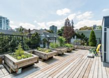 Rooftop garden and deck at the Nicola Street apartment