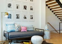 Scandinavian entry with gallery wall