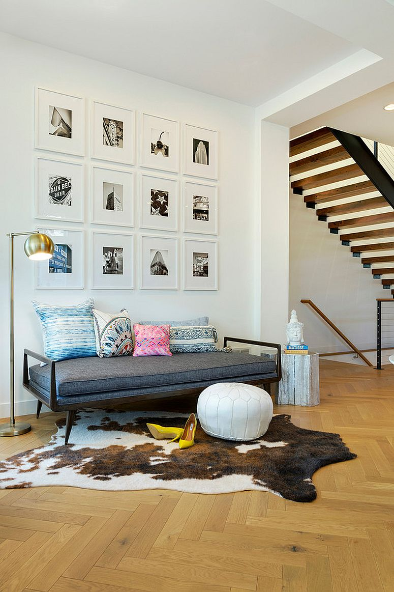 Scandinavian entry with gallery wall [Design: Lucy Interior Design / Charlie & Co. Design]