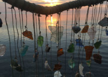 Sea glass mobile from Crystal's Sea Glass Creations
