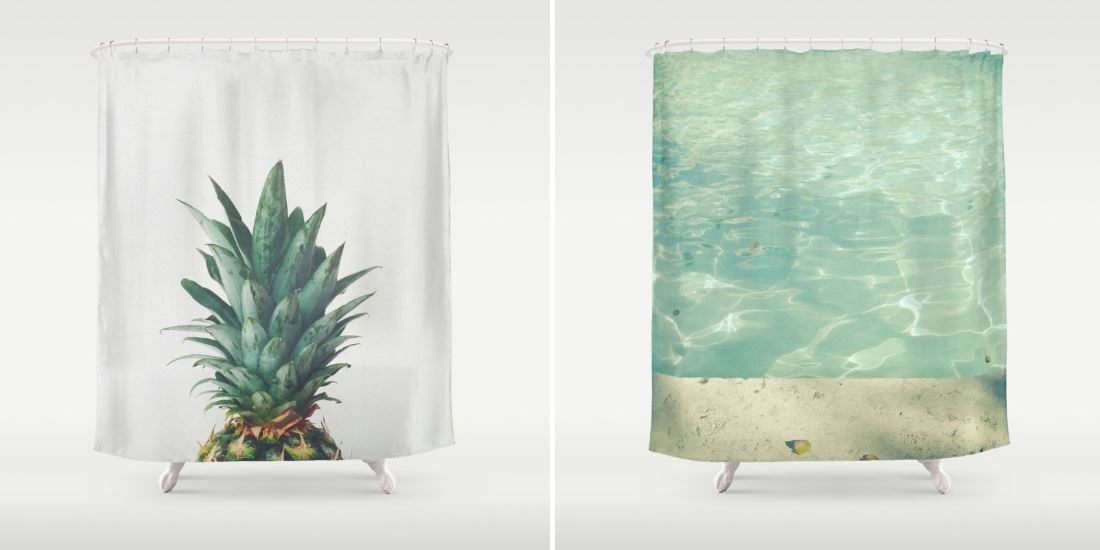 Shower curtains from the Society6 shop of Cassia Beck