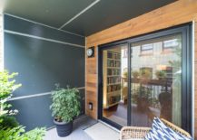 Small and green outdoor deck of the elegant Vancouver apartment