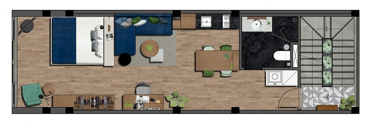 Small apartment floor plan design