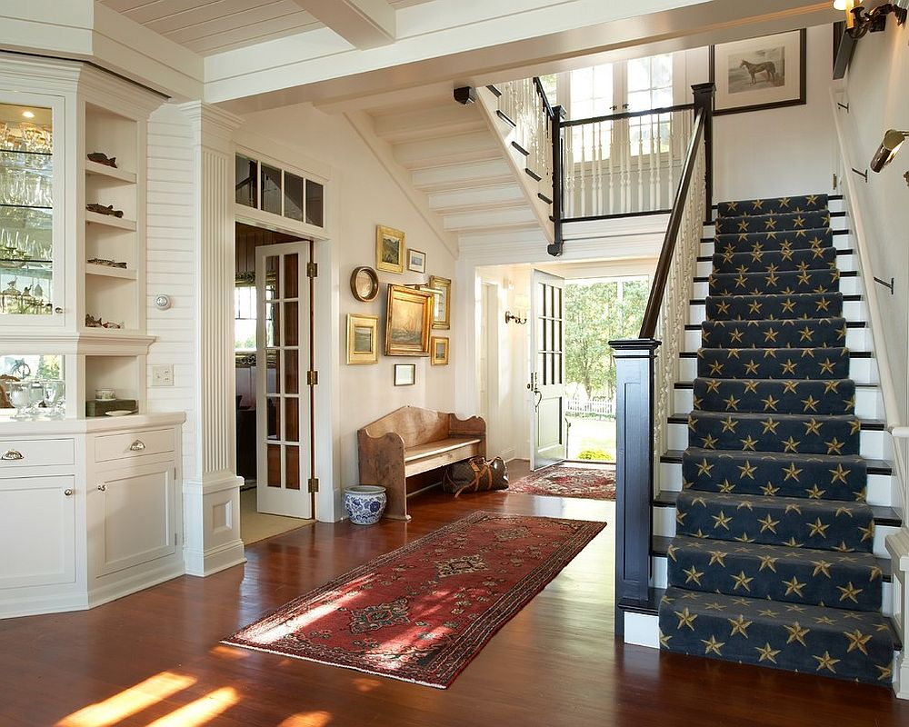 Small gallery wall for the traditional entry [From: The Landschute Group / Karen Melvin Photography]