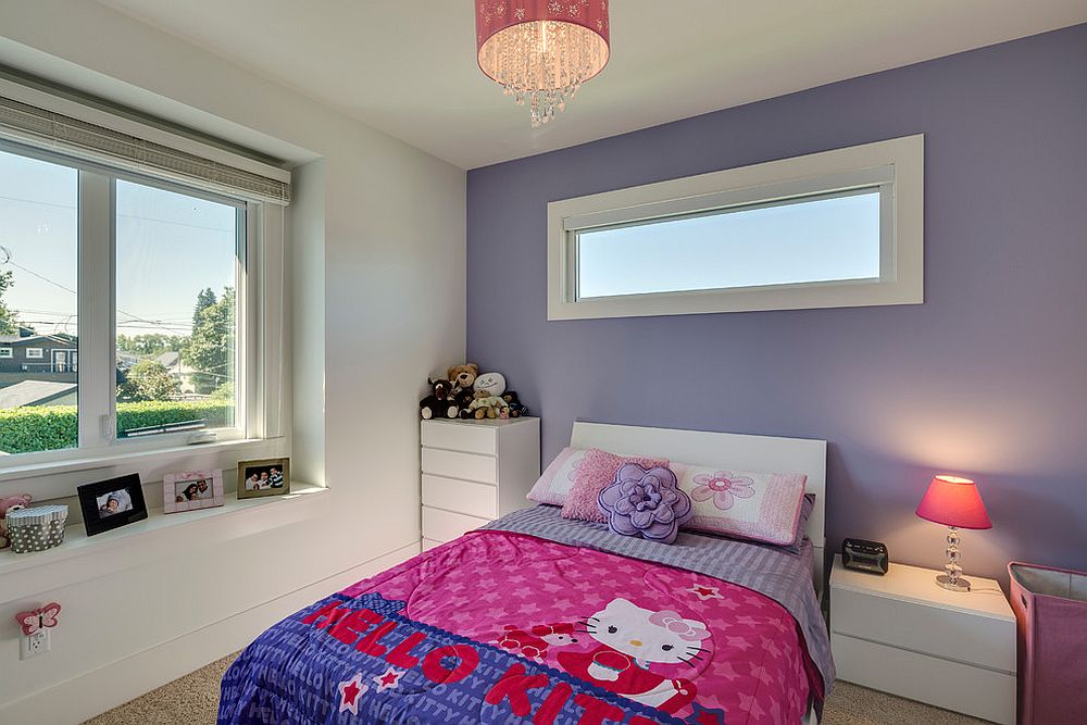 Smart Hello Kitty bedding for the contemporary girls' bedroom [Design: Clay Construction]