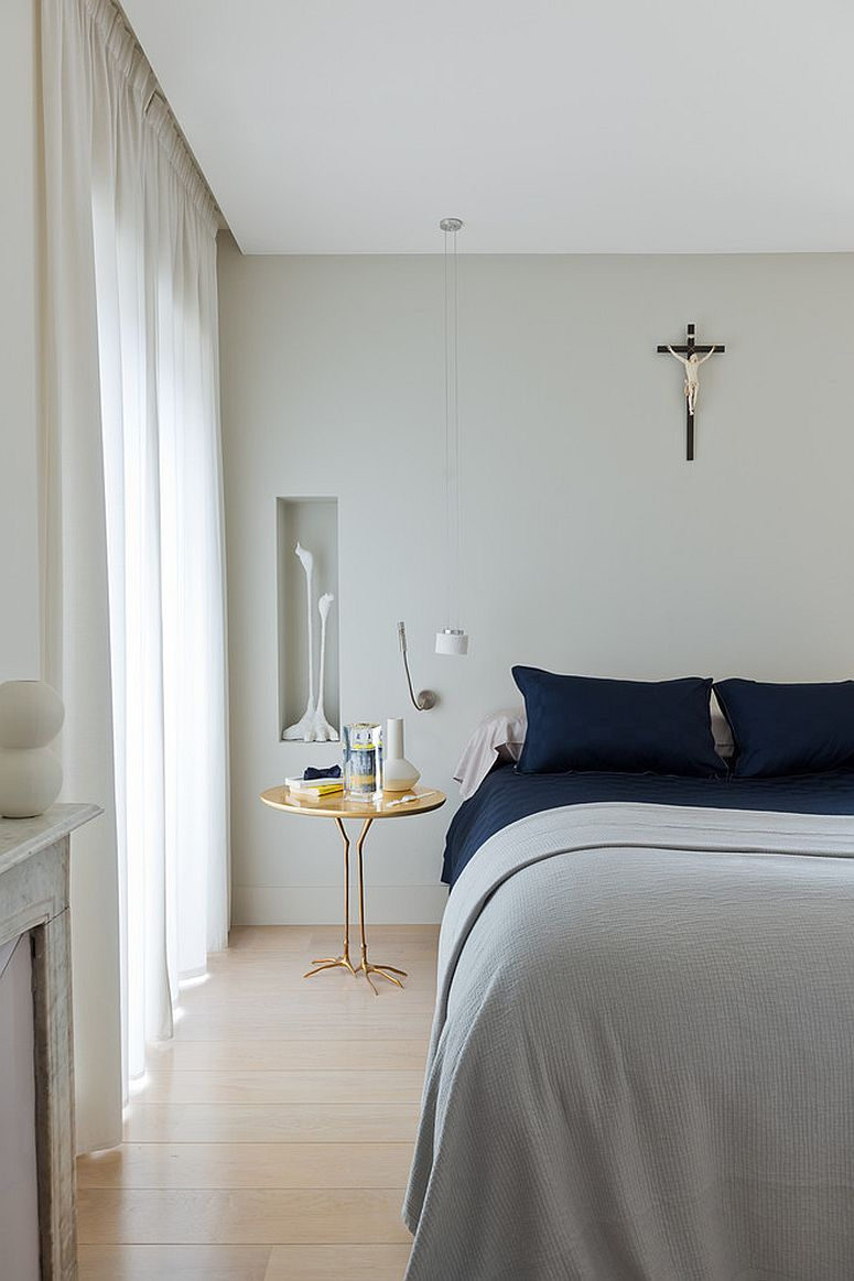 20 nightstands and bedside tables that add golden glint to the bedroom smart bedside table in gold is a space saver photography anthony lanneretonne