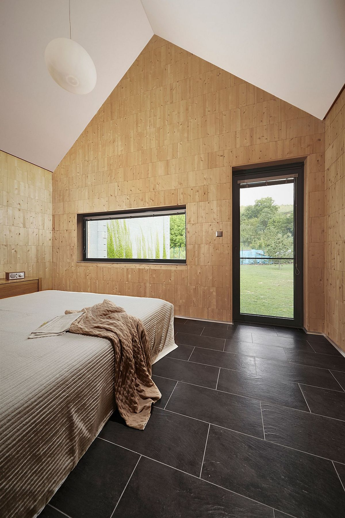 Smart insulation provided wooden bricks for the bedroom