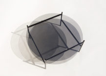 Smoked glass coffee table from Yield 217x155 New Modern Furniture, Lighting and Vase Collections