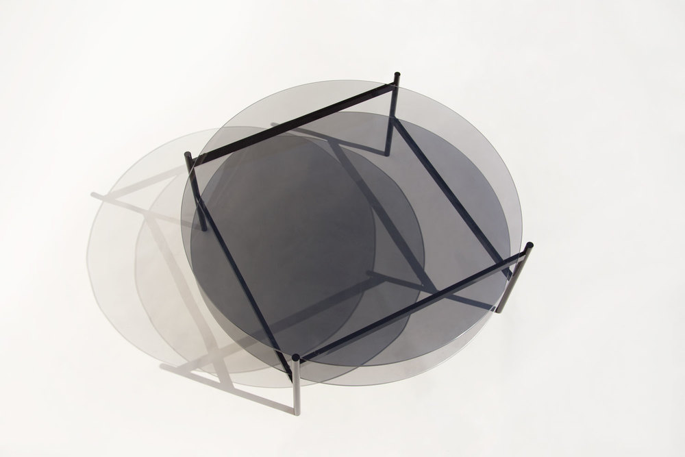 Smoked glass coffee table from Yield