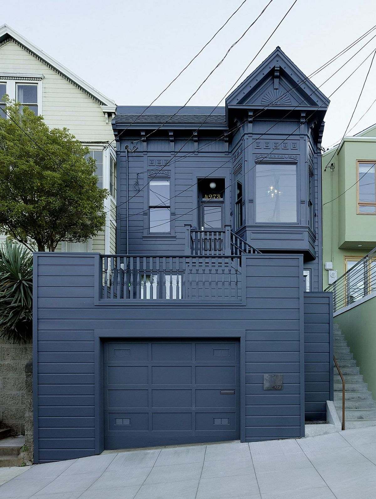 Street facade of the revamped 25th St Residence by Geremia Design