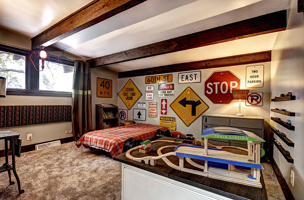 Street smart style decorating your home with road signs for Room decor signs