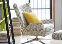Swiveled armchair from West Elm