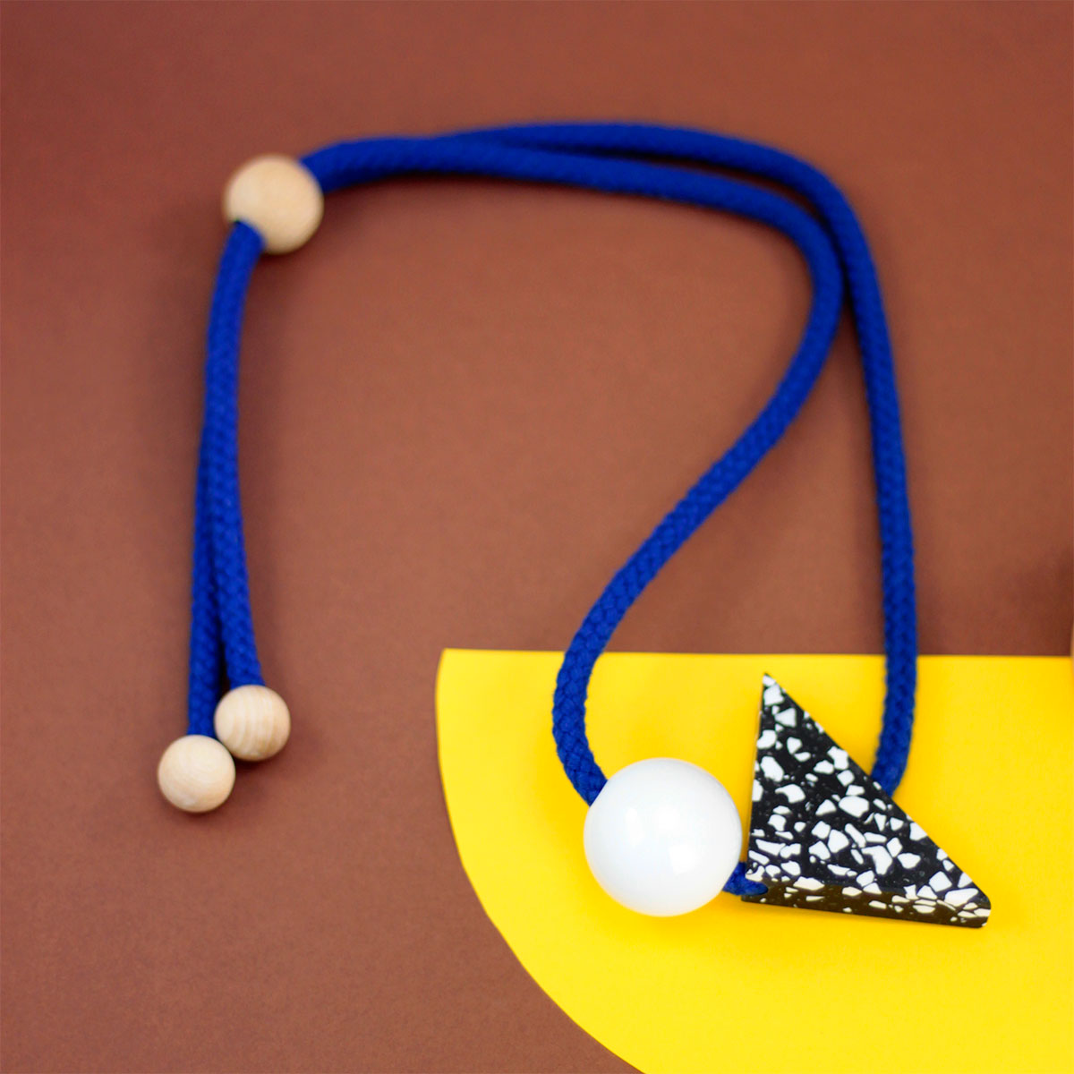 Terrazzo-motif necklace from Cool Machine